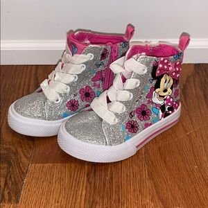 Disney Minnie Mouse Sparkle High Top Sneakers
